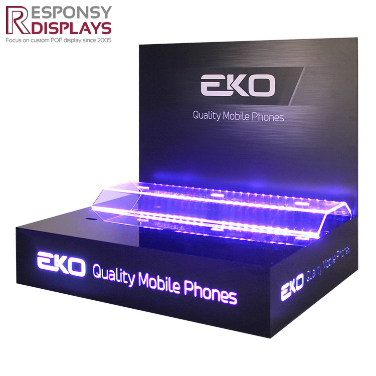 Counter Black Quality Mobile Phone LED Displays Holder