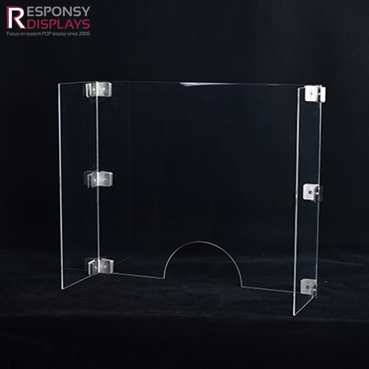Clear Acrylic Separator Counter Sneeze Guard Transparent Divider For Office Desk And Room