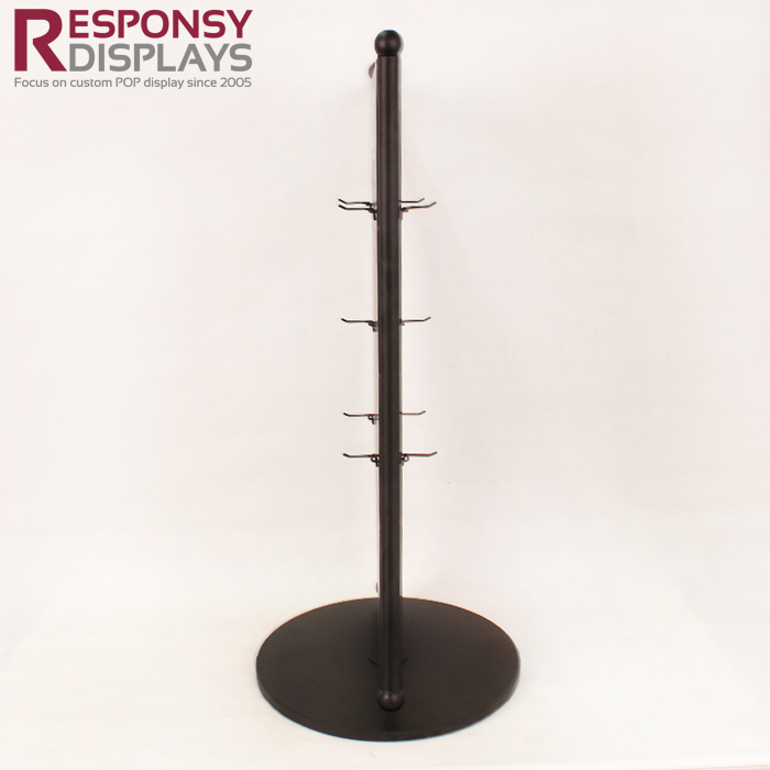 Modern Style Two Sides Countertop Revolving Display Rack For Snaffle