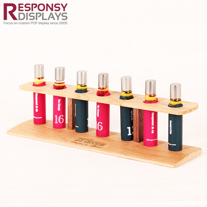 Countertop Promotion Wood Effect Essential Oil Display Stand