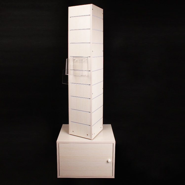 Floor Standing MDF With Melamine Travel Book Display Used In Tourist Attractions