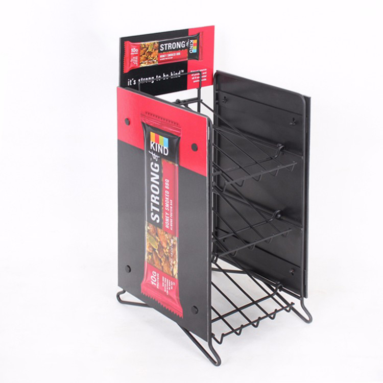 Customized Metal Food And Snack Rack Display Stand For Supermarket